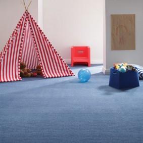 Игровой шалаш в комнате мальчика