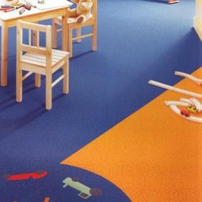 Яркие принт коврового покрытия