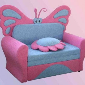 Игровое кресло Бабочка для ребенка дошкольника
