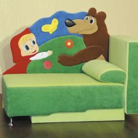 Раскладной диванчик для маленького ребенка