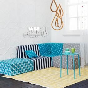 Модульная мягкая мебель для детей
