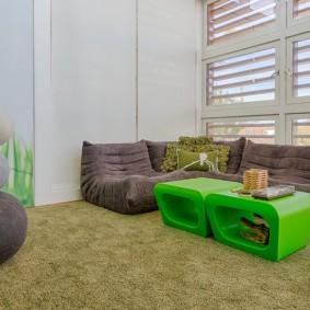 Бескаркасная мебель для просторной детской