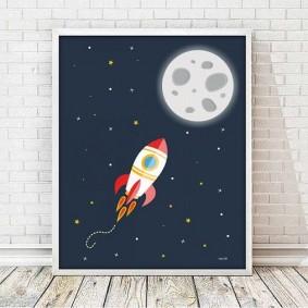 Детский постер на космическую тематику