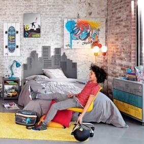 Детская комната подростка в стиле лофт