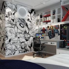 Интерьер комнаты подростка в современном стиле