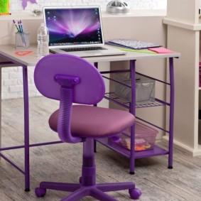 Компьютерный стул с обивкой из эко-кожи