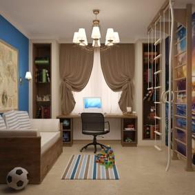 Шведская стенка в комнате мальчика