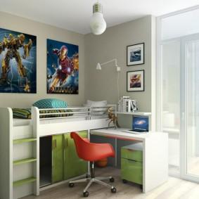 Комбинированная мебель в комнате ребенка