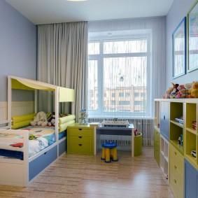 Нитяные шторы в комнате мальчика