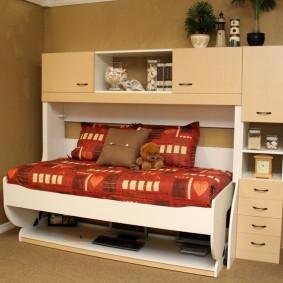 Корпусная мебель с откидной кроватью