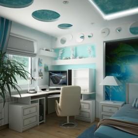 Дизайн небольшой детской комнаты в стиле хай-тек