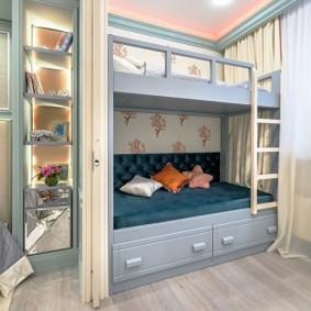 Двухъярусная кровать для мальчиков погодков