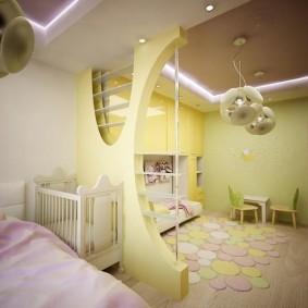 Светодиодная подсветка двухуровневого потолка
