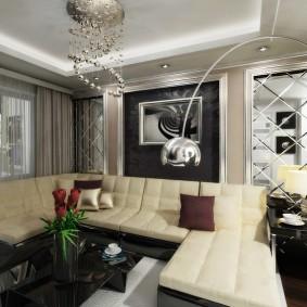 Раскладной диван с обивкой из эко-кожи