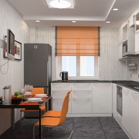 Дизайн кухни с угловым гарнитуром