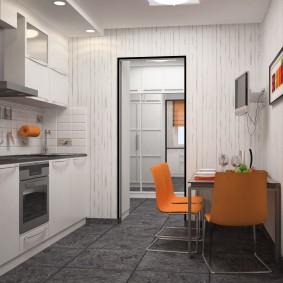 Кухонные стулья оранжевого цвета