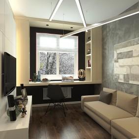 Маленькая гостиная в квартире многоэтажного дома