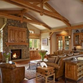 Обустройство зоны отдыха в деревянном доме