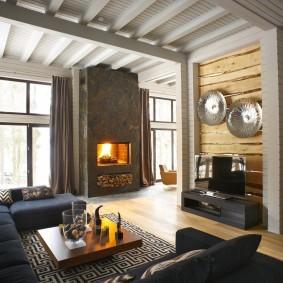 Белый цвет в интерьере деревянного дома