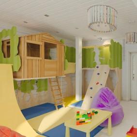 Дизайн игровой комнаты в частном доме