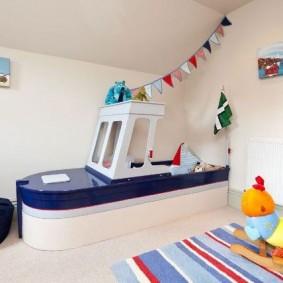 Интерьер детской игровой в морском стиле