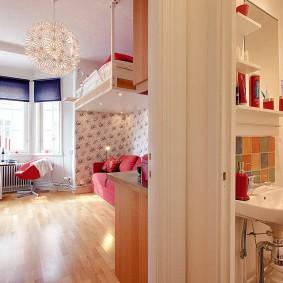 Компактный умывальник в двухкомнатной квартире