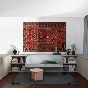 Ковер в интерьере двухкомнатной квартиры