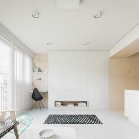 Лаконичный интерьер однокомнатной квартиры