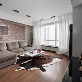 Серый диван раскладной конструкции