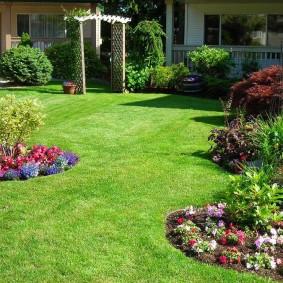 Садовый газон в английском стиле