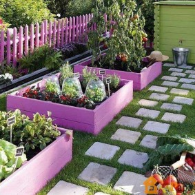 Огородные грядки квадратной формы