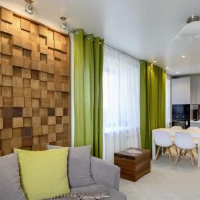 Деревянные панели в квартире эко-стиля