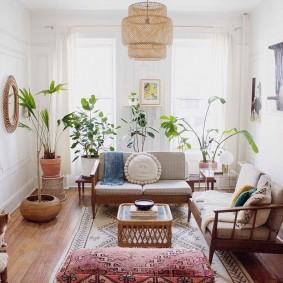 Эко-стиль в интерьере маленькой комнаты
