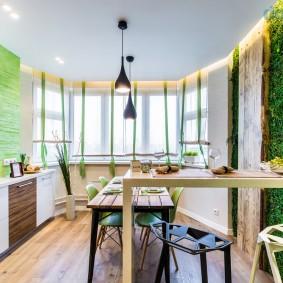 Кухня-гостиная в эко-стиле
