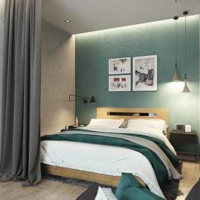 Спальное место в квартире студии