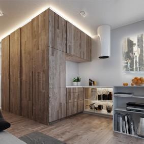 Декоративная подсветка встроенных шкафов