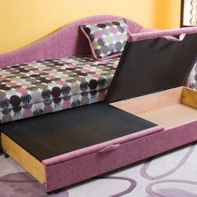 Выдвижные ящики в детском диване