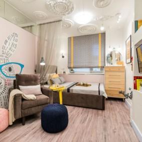 Мягкая мебель в комнате девочки подростка