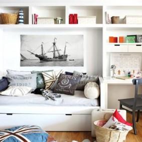 Каркасная мебель из МДФ белого цвета