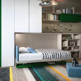 Многофункциональная мебель в комнате подростка