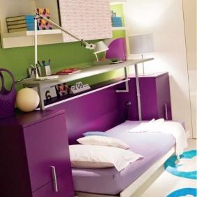 Набор мебели для школьника с откидной кроватью