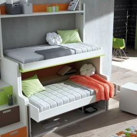 Кровать-трансформер с двумя спальными местами