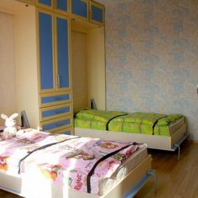 Детская стенка с кроватями откидной конструкции