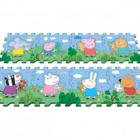 Наборный коврик с героями из любимых мультфильмов