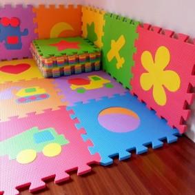 Цветные модули мягкого покрытия