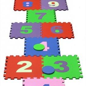 Дорожка из модулей для детских игр