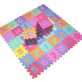 Детские кубики из пазлов наборного коврика