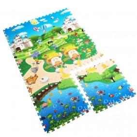 Сказочный мир на полотне детского коврика