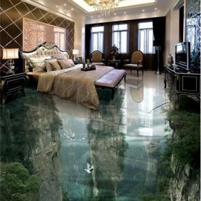 Спальная комната в стиле арт-деко