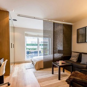перфорированная перегородка в однокомнатной квартире